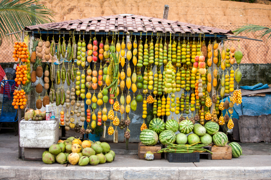 Amazon Fruits - Brazilian Street Stores with a variety of fruits